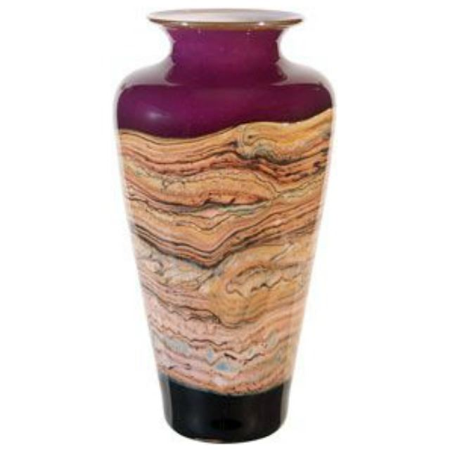 Picture of Blown Glass Vase | Red Amethyst Strata