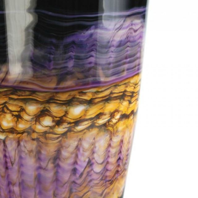 Picture of Blown Glass Flatten Vase | Amethyst Opal
