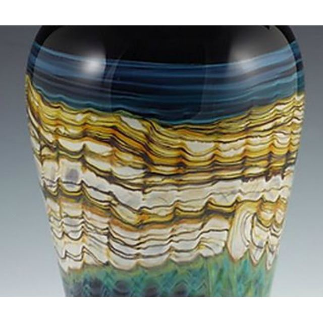 Picture of Blown Glass Cone Vase   Black Opal