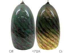 Picture of Blown Glass Pendant Light | Jade Sunset