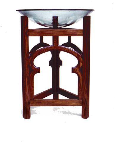 Plate Glass Baptismal Font