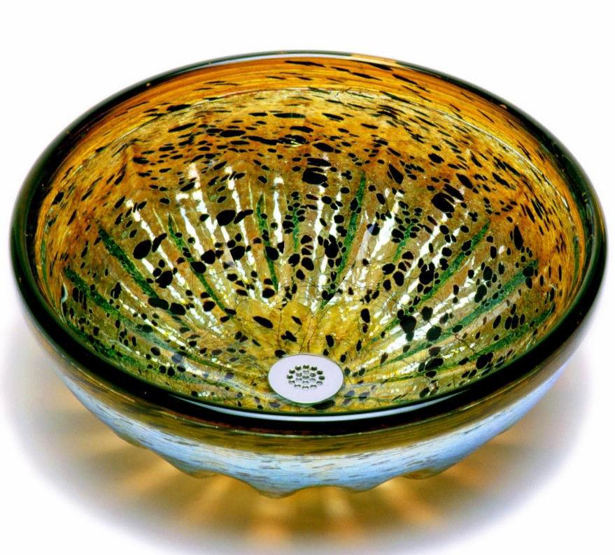 Blown Glass Sink | Tortoise Shell Rhapsody