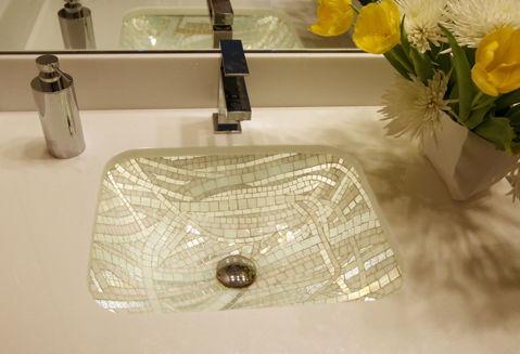 Ice Cube Mosaic Sink