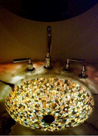 Autumn Glass Mosaic Sink