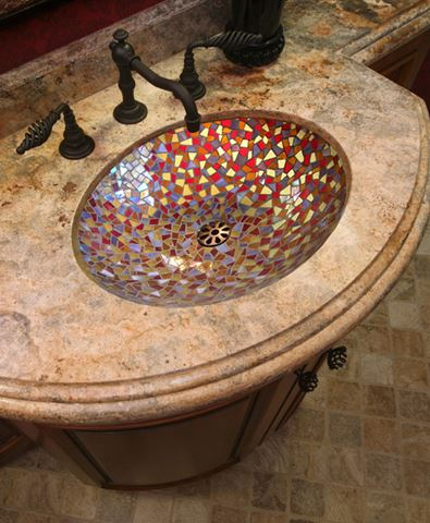 Cathedral Glass Mosaic Sink