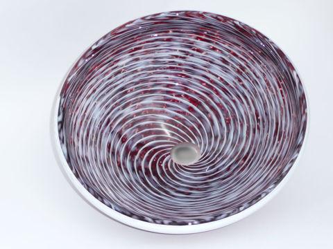Blown Glass Sink | Deep Flame Red Whirlpool