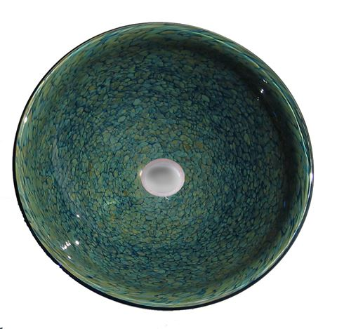 Golden Transparent Jade Tortoise Vessel Sink