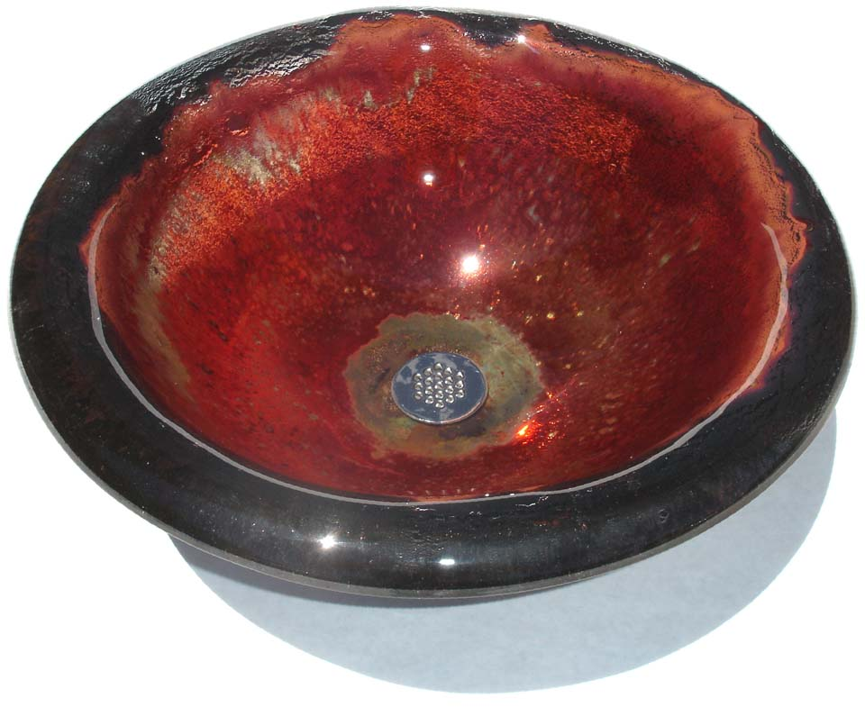 Picture of Copper Storm II Round Self-Rimming Glass Sink