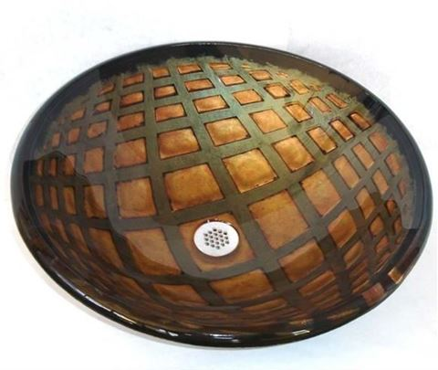 Illusione Round Glass Vessel Sink