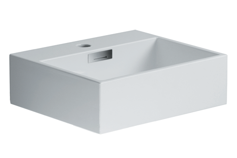 "Quarelo 16.5"" Italian White Ceramic Sink"
