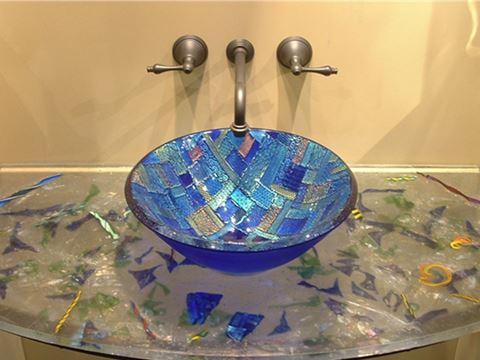 Blue Dichroic Sink