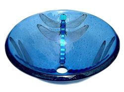 Picture of Blue Dragonfly Vessel Sink