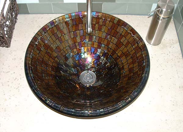 Picture of Coffee Mosaic Vessel Sink