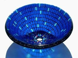 Blue Mosaic Vessel Sink