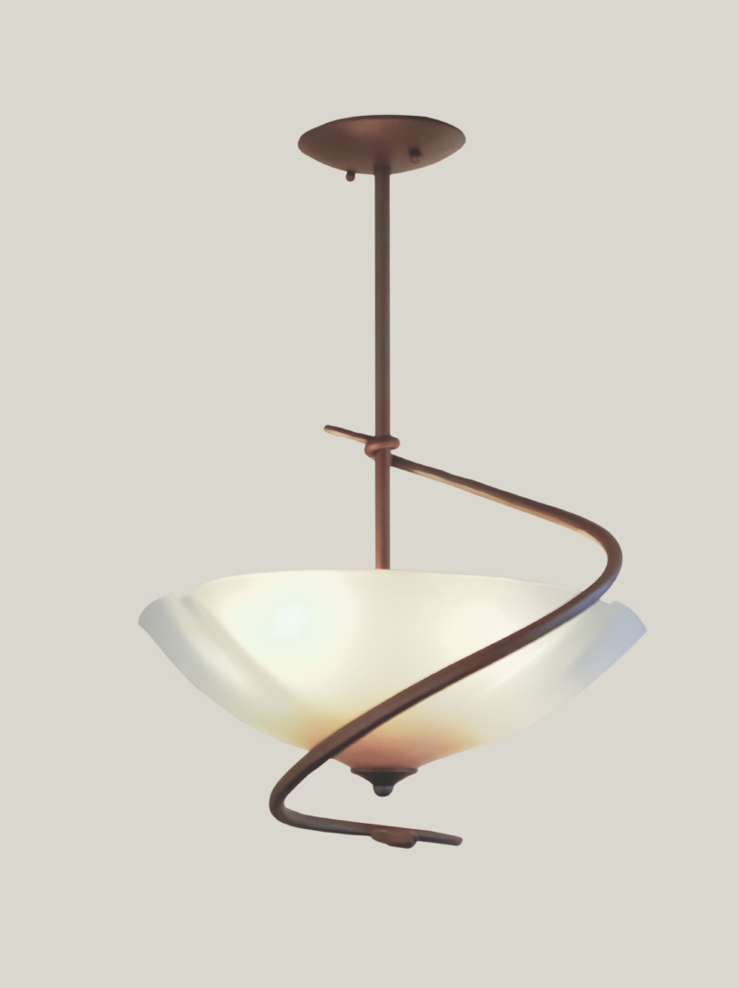 Picture of South End Fused Glass Pendant Light