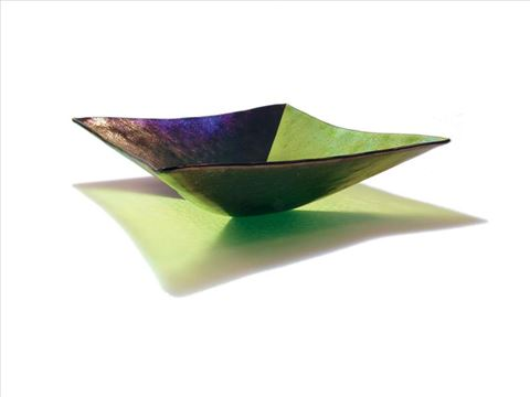 Green Square Harlequin Bowl