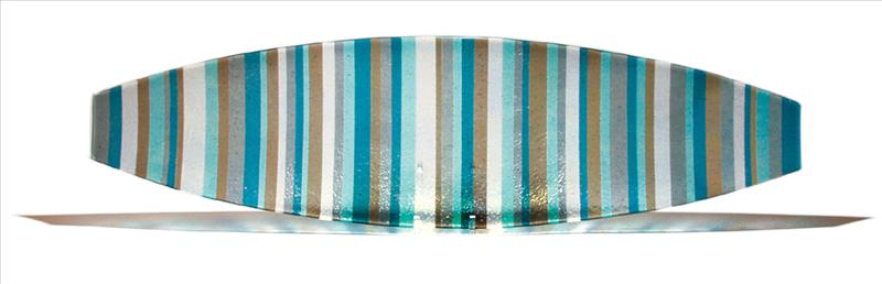 Picture of Blue and Tan Italian Line Canoe Platter
