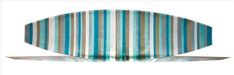 Blue and Tan Italian Line Canoe Platter