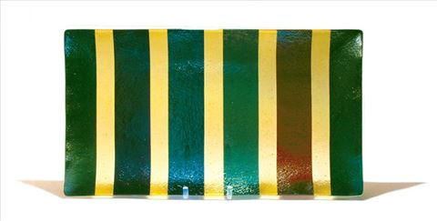 Green and Yellow Line Platter