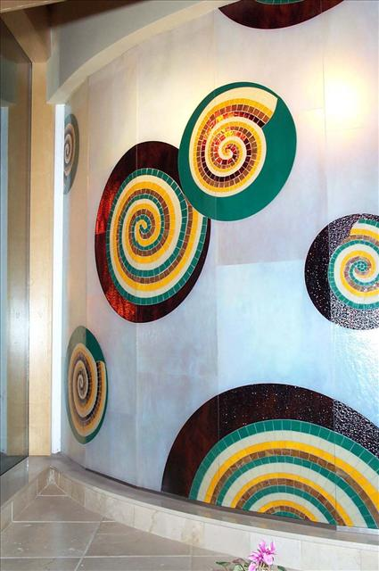 Picture of Mosaic Wall with Spirals
