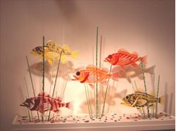Rockfish Dichroic Glass Sculpture