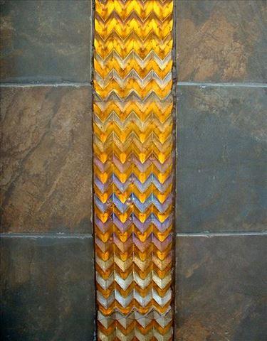 Amber Chevron Tiles