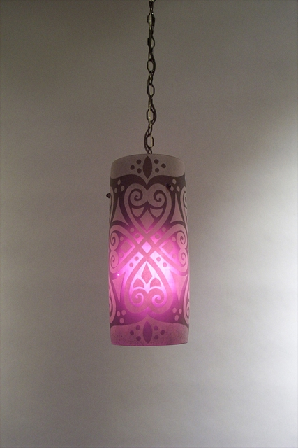 Picture of Pendant Light   Ruby Brocade