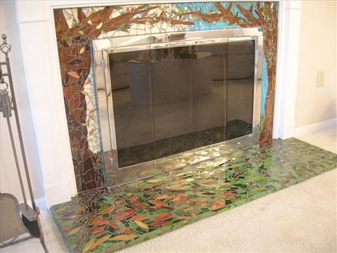 Enchanted Forest Fireplace Surround