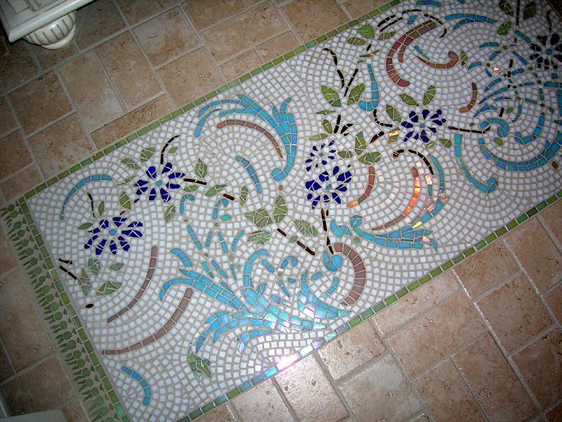 Picture of Bernard's Custom Crafted Floor Mosaic Carpet