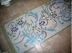 Bernard's Custom Crafted Floor Mosaic Carpet