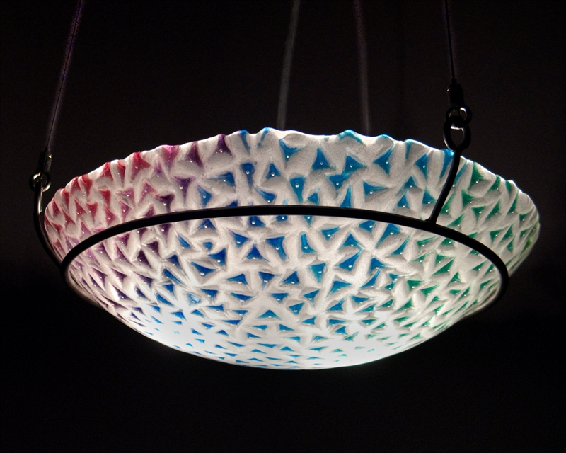Picture of Red to Green Spiky Pendant Light