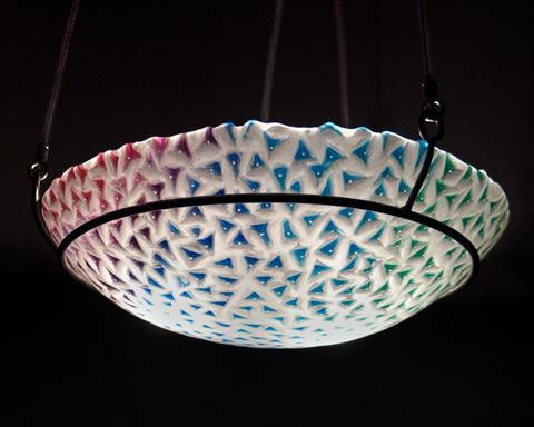 Red to Green Spiky Pendant Light