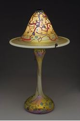 Large Gold Murrini Flared Shade Table Lamp