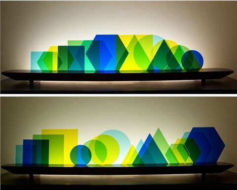 Euclid Glasscape Lighitng Sculpture
