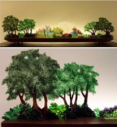 Picture of Perennial Hush Glasscape Lighting Sculpture