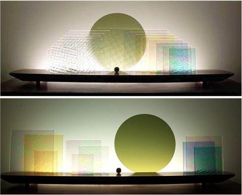 Square Ice Glasscape Lighting Sculpture