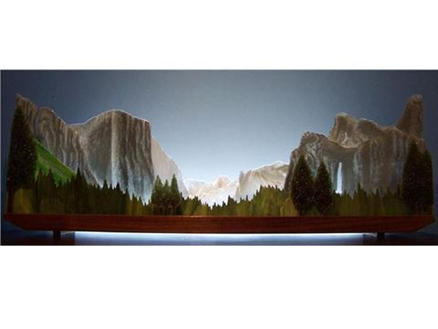 Yosemite Valley Glasscape Lighting Sculpture
