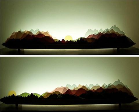 Alpine Glasscape Lighting Sculpture