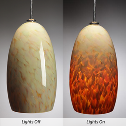 Blown Glass Pendant Light - Caramel Corn