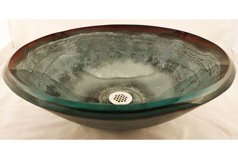 Sagestone Glass Vessel Sink