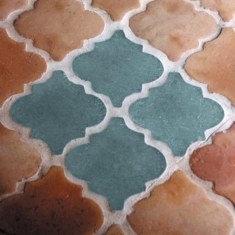 Glass Quatrefoil Tiles