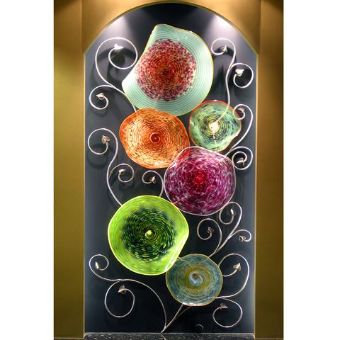 Blown Glass Platter Wall Art