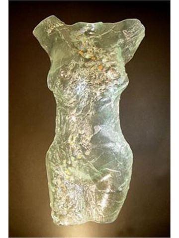 Bedazzled Glass Torso Sculpture