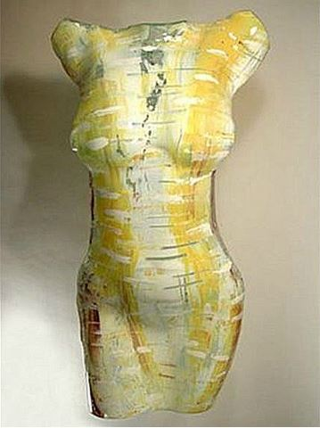 Chiffon Art Glass Torso Sculpture