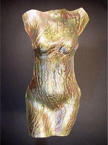 Serpentine Glass Torso Sculpture