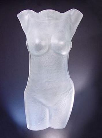 Subtle Energy Glass Torso Sculpture