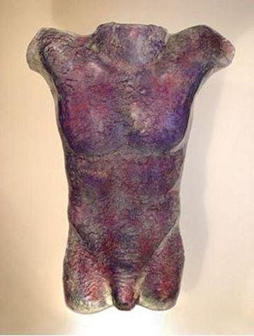 Passion Glass Male Torso Sculpture