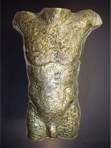Silent Strength  Glass Male Torso Sculpture