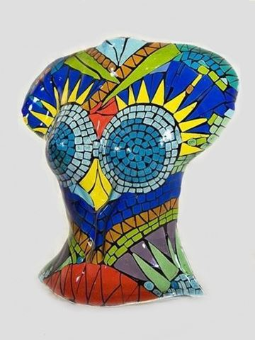 Mosaic Torso Glass Sculpture