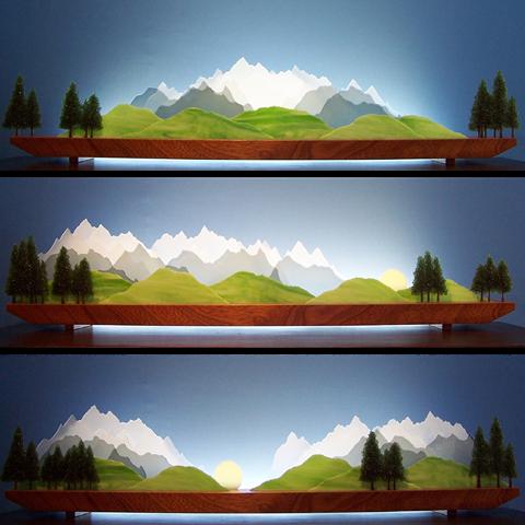 Sierra Glasscape Lighting Sculpture